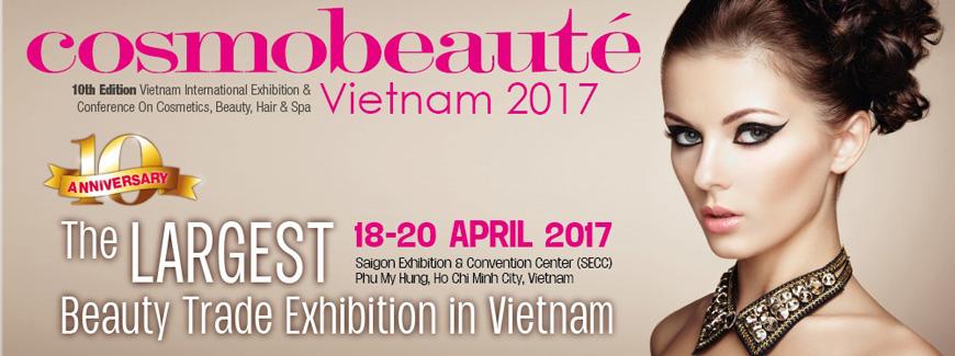 Triển lãm và Hội thảo Quốc tế Chuyên Ngành Mỹ Phẩm, Làm Đẹp, Chăm Sóc Tóc và Spa lần thứ 10 tại Việt Nam